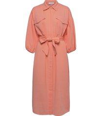 iris knälång klänning rosa hofmann copenhagen