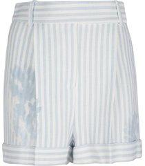 ermanno scervino floral print stripe shorts