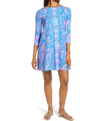 women's lilly pulitzer ophelia long sleeve swing dress, size x-small - pink
