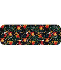 passadeira elementos natalinos coloridos ãšnico love decor - multicolorido - dafiti