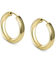 argento vivo small seamless hoop earrings in 18k gold-plated sterling silver, 1""