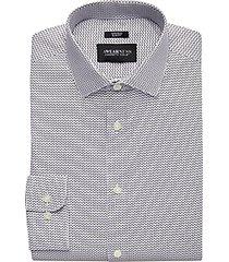 awearness kenneth cole gray print slim fit dress shirt