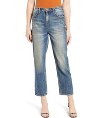 lee high waist ankle straight leg jeans, size 33 in retro stone at nordstrom