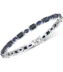 sapphire tennis bracelet (13 ct. t.w.) in sterling silver