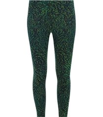 legging deportivo estampado cuadros verdes color verde, talla xs
