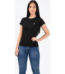 camiseta básica negro para mujer