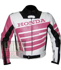 honda 9019 pink leather motorcycle motorbike stylish cowhide safety  jacket