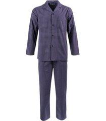 club room men's double window pane pajama set, created for macy's