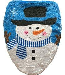 elegante sombrero de navidad decoracion muñeco de nieve wc tapa tapa, tamaño: 48 x 43 cm