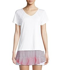 sliced short-sleeve tennis tee