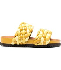 paul warmer braided-strap sandals - yellow