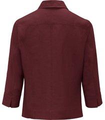 blouse van 100% linnen met 3/4-mouwen van peter hahn rood
