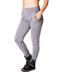 calça adamas legging cinza com bolsos frontais