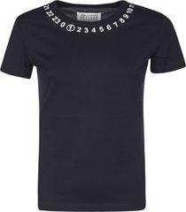 maison margiela logo print slim t-shirt