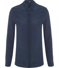 camisa feminina lica - azul