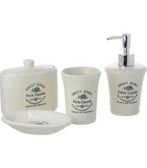 conjunto de 4 peças de cerâmica para banheiro annette