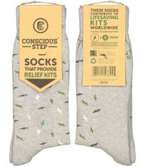 conscious step socks that provide disaster relief