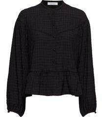 rhonda blouse 11156 blouse lange mouwen zwart samsøe & samsøe