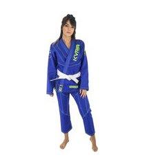 kimono jiu jitsu kvra shadow feminino - azul