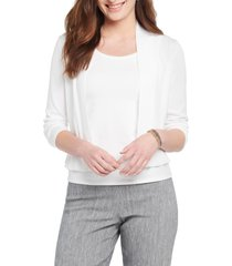 women's nic+zoe first day cardigan, size large - white