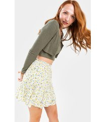 carly ditsy floral mini skirt - yellow