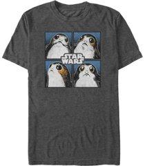 star wars men's four square porgs short sleeve t-shirt