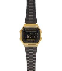 reloj casio a_168wegb_1b negro acero inoxidable