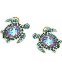 heidi daus women's goldtone & crystal turtle stud earrings