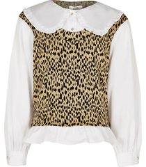 river island gils brown charlotte tabard shirt