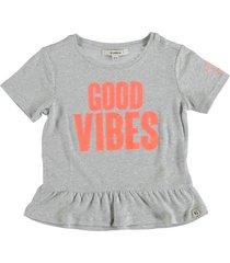 garcia korte zacht grijs t-shirt polyester linnen