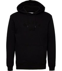 brand hooded sweatshirt hoodie trui zwart makia