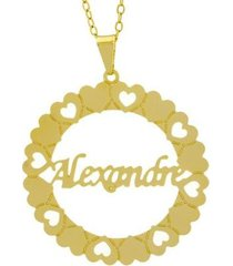gargantilha horus import manuscrito alexandre banho ouro 18k feminina