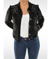 chaqueta clásica dama jeans gris di bello jeans  classic jacket ref c095