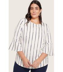 camiseta manga 3/4 escote redondo estampada-14