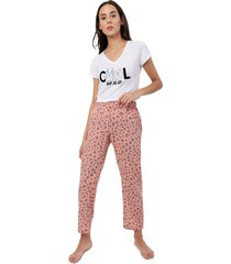 pantalon descanso mujer color rosado, talla m