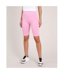 bermuda feminina básica ciclista rosa