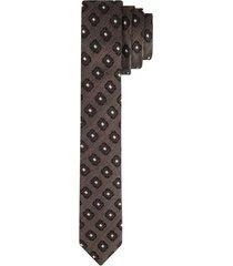 corbata pala angosta en seda diseño textura para hombre 85907
