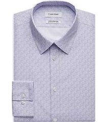 calvin klein infinite periwinkle patterned extreme slim fit dress shirt