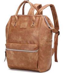 mochila cartera marrón everlast