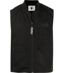 daily paper husam multi-pocket vest - black