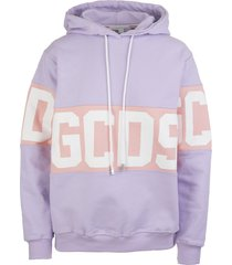 lilac woman hoodie with logoed band