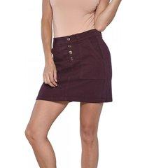 mini falda tiro alto 3077 burdeo amalia jeans