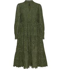 yasholi ls midi dress ft s. knälång klänning grön yas