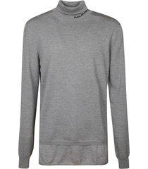 balmain turtle neck ribbed sweater