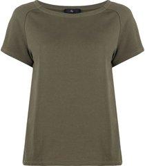fay embroidered-logo short-sleeve sweatshirt - green