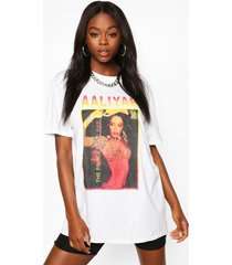 aaliyah licence graphic t-shirt, white