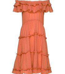 inez flounce dress nachthemd oranje lulu's drawer