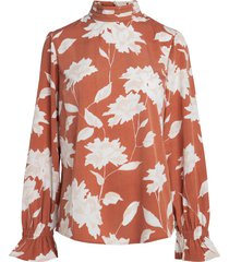 blouse printed long sleeved