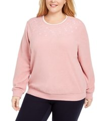 alfred dunner plus size embroidered top