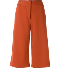 alcaçuz straight-leg bermuda shorts - orange